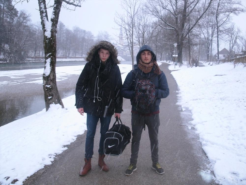 Anreise im Schnee