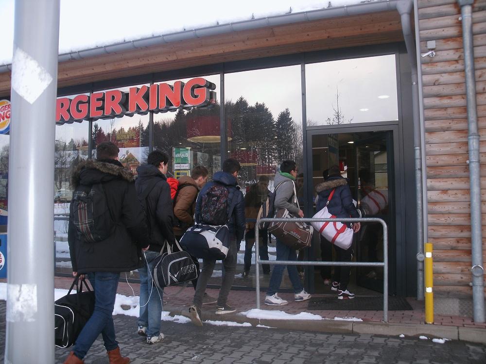 Erster Halt: Buger King